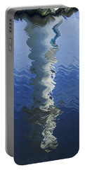 Portable Battery Charger featuring the photograph Scott Memorial Roath Park Cardiff Reflections by Steve Purnell