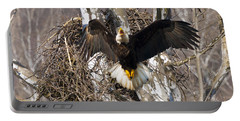 Portable Battery Charger featuring the photograph Screaming Eagle  by Randall Branham