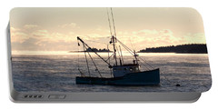 Portable Battery Charger featuring the photograph Sea-smoke On The Harbor by Brent L Ander