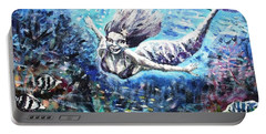 Portable Battery Charger featuring the painting Sea Surrender by Shana Rowe Jackson