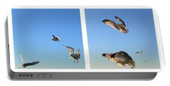 Seagull Collage Portable Battery Charger by Michelle Calkins