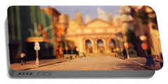 Portable Battery Charger featuring the photograph Seaport Tiltshift by EricaMaxine  Price