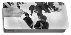 Searching For Avalanche Victims - Dyea Trail Alaska - C 1898 Portable Battery Charger