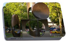 Portable Battery Charger featuring the photograph Seattle Sculpture by Chalet Roome-Rigdon