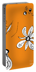Serenity In Orange Portable Battery Charger