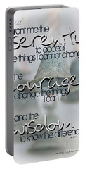 Serenity Prayer With Bells Portable Battery Charger