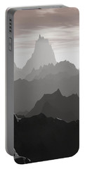Portable Battery Charger featuring the digital art Shades Of Gray by Phil Perkins