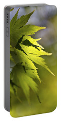 Portable Battery Charger featuring the photograph Shades Of Green And Gold. by Clare Bambers