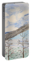 Portable Battery Charger featuring the painting Shades Of Nature by Sonali Gangane
