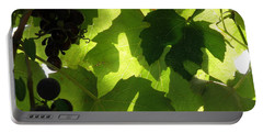 Shadow Dancing Grapes Portable Battery Charger by Lainie Wrightson