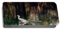 Portable Battery Charger featuring the photograph Shadowwaters by Lydia Holly