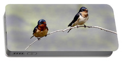 Portable Battery Charger featuring the photograph Sharing A Branch by Elizabeth Winter