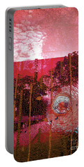 Portable Battery Charger featuring the photograph Abstract Shattered Glass Red by Andy Prendy