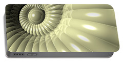 Portable Battery Charger featuring the digital art Shell Of Repetition by Phil Perkins