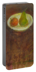Portable Battery Charger featuring the painting Side By Side by Kathleen Grace