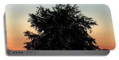 Make People Happy  Square Photograph Of Tree Silhouette Against A Colorful Summer Sky Portable Battery Charger