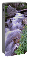 Portable Battery Charger featuring the photograph Silky Stream by Zawhaus Photography