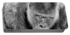 Silverback Staredown Portable Battery Charger by Jason Politte