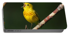 Singing Yellow Warbler Portable Battery Charger