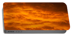 Sky Of Fire Portable Battery Charger by Colleen Coccia