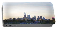 Skyline View Of Philadelphia Portable Battery Charger by Bill Cannon