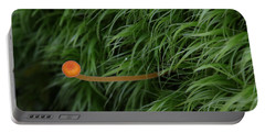 Small Orange Mushroom In Moss Portable Battery Charger