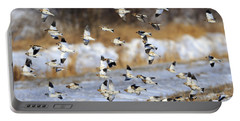 Snow Buntings Portable Battery Charger