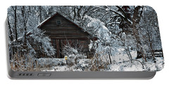 Snow Covered Barn Portable Battery Charger