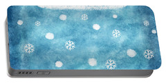 Snow Winter Portable Battery Charger
