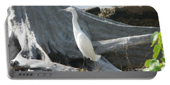 Portable Battery Charger featuring the photograph Snowy Egret by Laurel Best