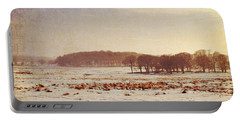 Snowy Landscape Portable Battery Charger by Lyn Randle