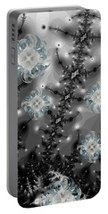 Snowy Night II Fractal Portable Battery Charger