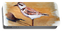 Snowy Plover Portable Battery Charger by Chriss Pagani