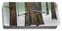 Snowy Redwood Portable Battery Charger