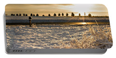 Snowy Sunrise Portable Battery Charger