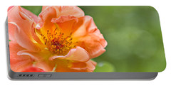 Portable Battery Charger featuring the photograph Soft Orange Rose by Lana Trussell