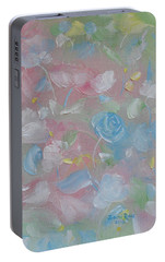 Portable Battery Charger featuring the painting Softly Spoken by Judith Rhue