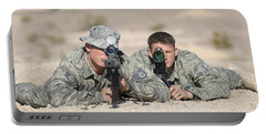 Soldiers Look Through The Scope Portable Battery Charger