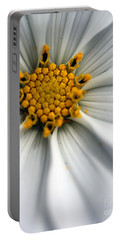 Portable Battery Charger featuring the photograph Sonata Cosmos White by Henrik Lehnerer