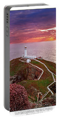Portable Battery Charger featuring the photograph South Stack Lighthouse by Beverly Cash