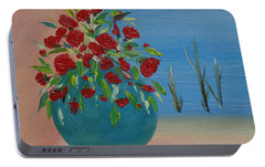 Portable Battery Charger featuring the painting Southwestern 1 by Judith Rhue