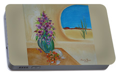 Portable Battery Charger featuring the painting Southwestern 3 by Judith Rhue