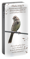 Sparrow Portable Battery Charger by Lena Auxier