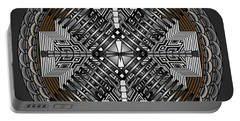 Portable Battery Charger featuring the digital art Spectral Formations by Mario Carini