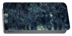 Portable Battery Charger featuring the photograph Spider Web by Matt Malloy