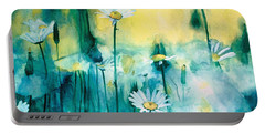 Splash Of Daisies Portable Battery Charger by Cyndi Brewer