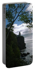 Portable Battery Charger featuring the photograph Split Rock II by Bonfire Photography