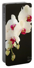 Spray Of White Orchids Portable Battery Charger