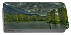 Spring Clouds At The Nicomen Slough Portable Battery Charger