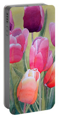Portable Battery Charger featuring the painting Spring by Laurel Best